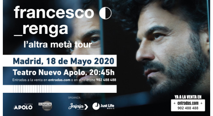 Tickets for Francesco Renga en Madrid (Teatro Nuevo Apolo)
