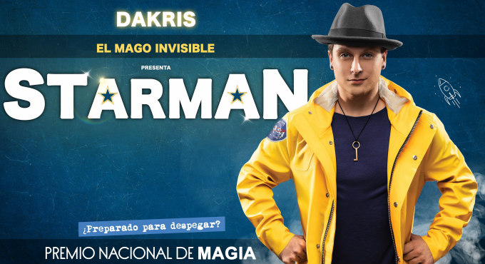 Tickets for Starman de Dakris el Mago Invisible en Madrid (Teatro Nuevo Apolo)