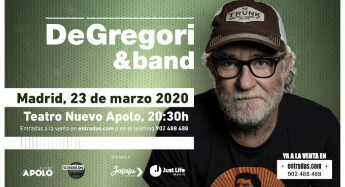 Tickets for Francesco de Gregori en Madrid (Teatro Nuevo Apolo)