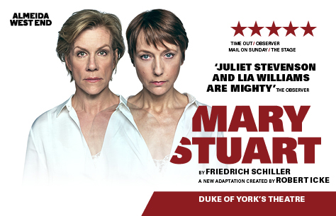 La obra Mary Stuart en Londres (Duke of Yorks Theatre)